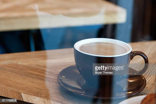 A cup of coffee sits on a table at Colson Patisserie on February 22 2016 in the Brooklyn borough of New York City A recently released study found...