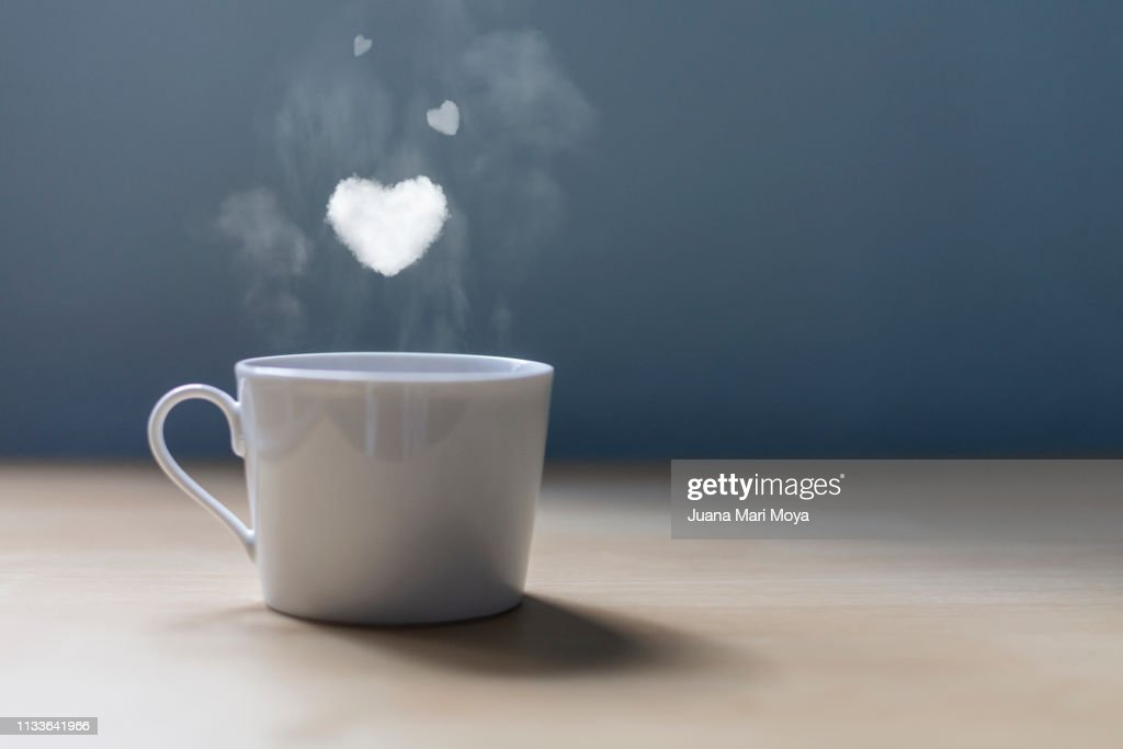 A cup of coffee with lots of love : Stock Photo