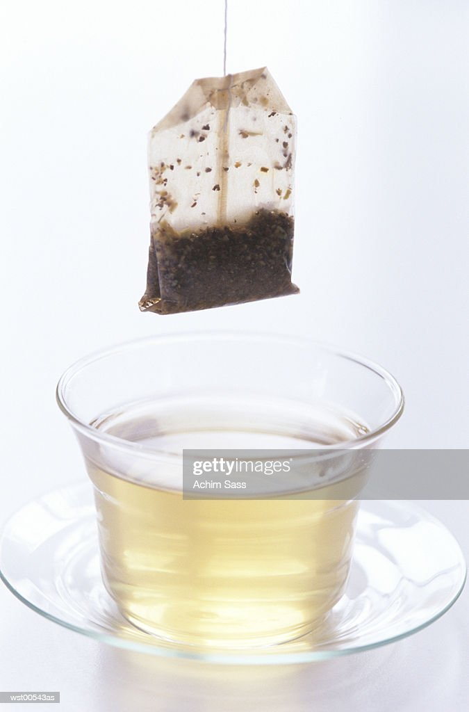 Cup of herbal tea, close up : Stock Photo