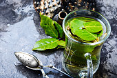 herbal tea with bay leafbrewed delicious
