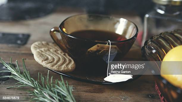 cup of herbal tea still life - rekha garton stock pictures, royalty-free photos & images