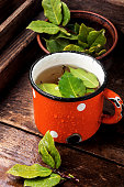 delicious herbal tea with bay leaf