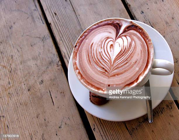 cup of hot chocolate - saucer stock pictures, royalty-free photos & images