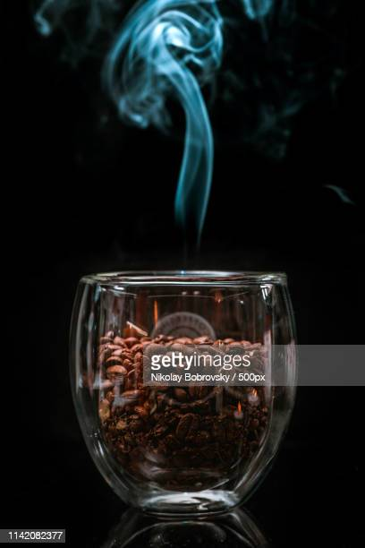 cup of hot coffee drink - bobrovsky stock photos and pictures