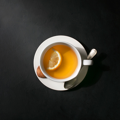 A cup of lemon tea. - gettyimageskorea
