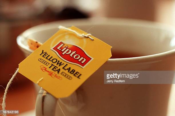 Cup of Lipton Tea steeps at a cafe in downtown Kandy. Sir Thomas Lipton himself set up tea plantations in Sri Lanka in the late 1800s..