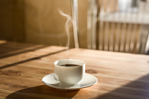 Cup of morning coffee 627089574