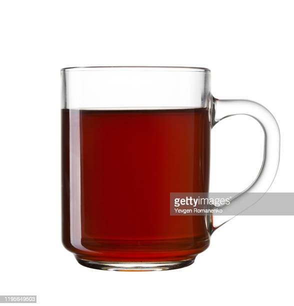cup of tea isolated on a white background - black tea stock pictures, royalty-free photos & images