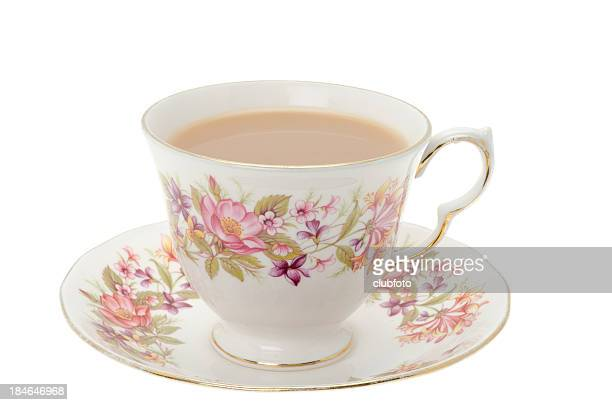 cup of tea. - saucer stock pictures, royalty-free photos & images