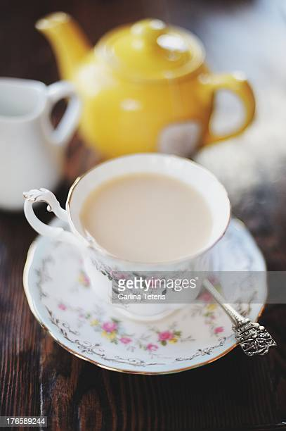 Cup of tea with milk