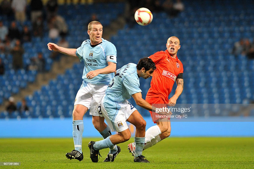 Soccer - UEFA Cup - Second Qualifying Round - First Leg - Manchester City v Midtjylland - City of Manchester Stadium : News Photo
