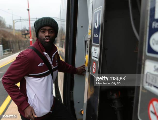 FA Cup Semi Final Chelsea v Manchester City Manchester City Travel to London on the Train Macclesfield Manchester City's Kolo Toure before boarding...