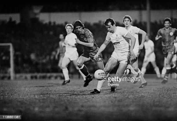 British soccer team Tottenham Hotspur v Croatian soccer team Hajduk Split at White Hart Lane London UK 26th April 1984