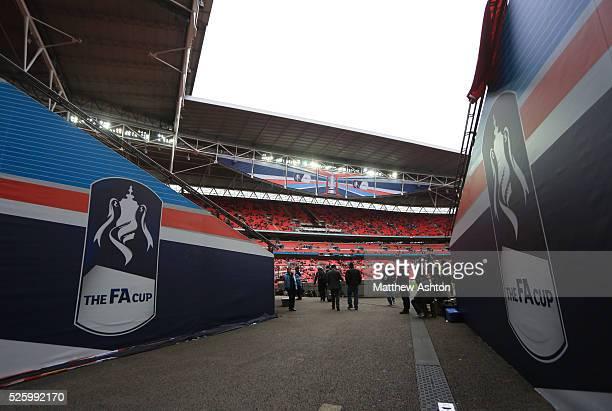 FA Cup signage at Wembley stadium