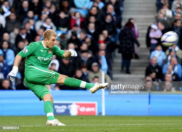 FA Cup Sixth Round Manchester City v Reading City of Manchester Stadium Manchester City goalkeeper Joe Hart during the match