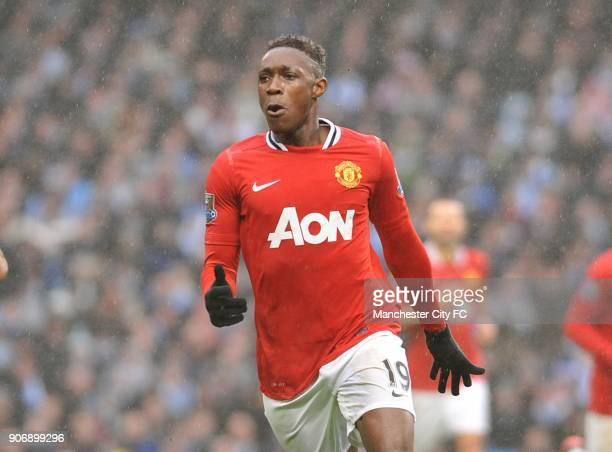 FA Cup Third Round Manchester City v Manchester United Etihad Stadium Manchester United's Danny Welbeck celebrates after scoring the second goal of...