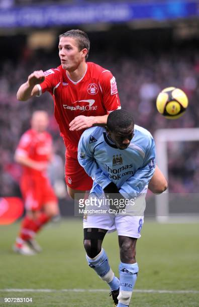 FA Cup Third Round Manchester City v Nottingham Forest City of Manchester Stadium Manchester City's Shaun WrightPhillips and Nottingham Forest's...