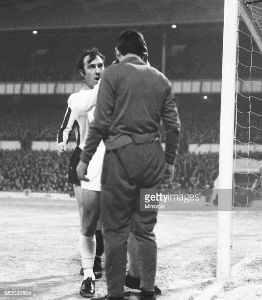 Cup Third Round replay at White Hart Lane. Tottenham Hostpur 5 v Bradford City 0. Jimmy Greaves of Spurs. 7th January 1970.