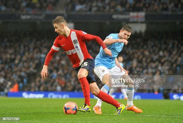 FA Cup Third Round Replay Manchester City v Blackburn Rovers Ewood Park Blackburn Rovers' Tom Cairney and Manchester City's James Milner battle for...