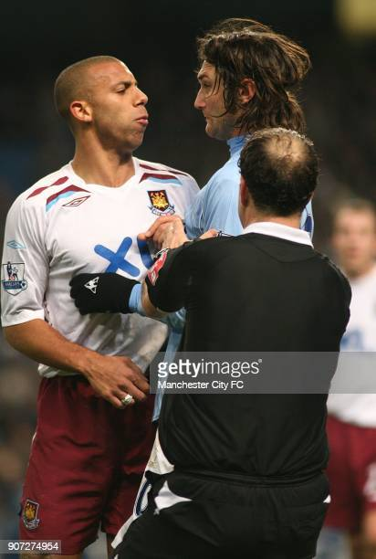 FA Cup Third Round Replay Manchester City v West Ham United City of Manchester Stadium West Ham United's Anton Ferdinand and Manchester City's...