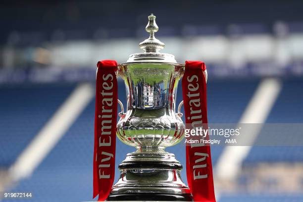 Cup trophy at the The Hawthorns, the home stadium of West Bromwich Albion during the Emirates FA Cup Fifth Round between West Bromwich Albion and...