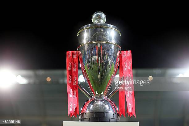 FFA cup trophy before the FFA Cup match between Palm Beach and South Melbourne at Cbus Super Stadium on July 29 2015 in Gold Coast Australia
