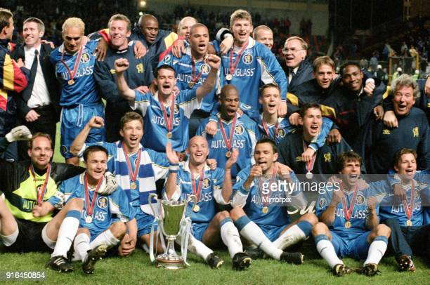 Cup Winners' Cup Final Chelsea v Stuttgart held at Råsunda Stadium Chelsea won the match 10 thanks to a Gianfranco Zola goal 13th May 1998