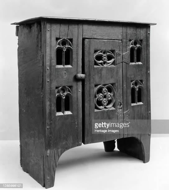Cupboard, British, late 15th century. Artist Unknown.