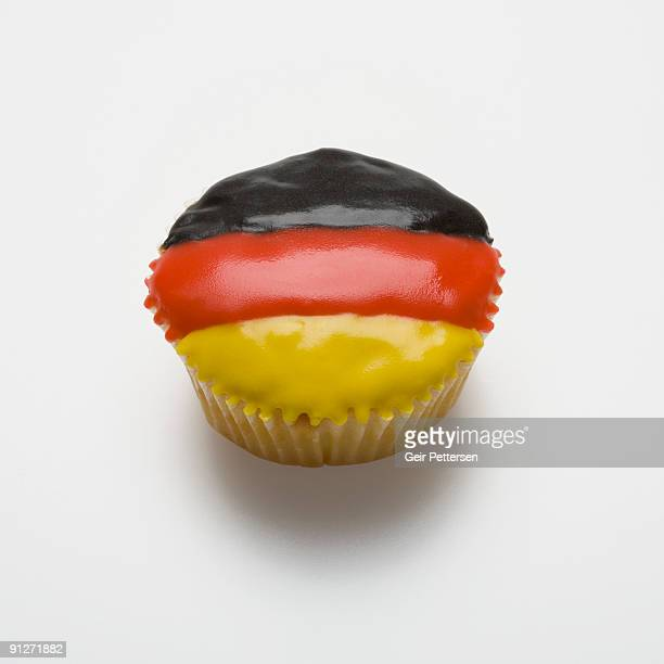 Cupcake decorated with the flag of Germany
