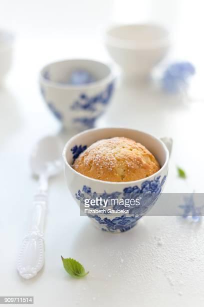 A cupcake in a Vintage Teacup