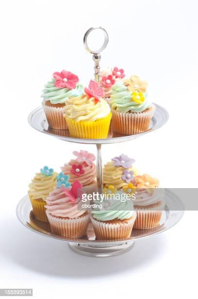 カップケーキに段ケーキスタンド