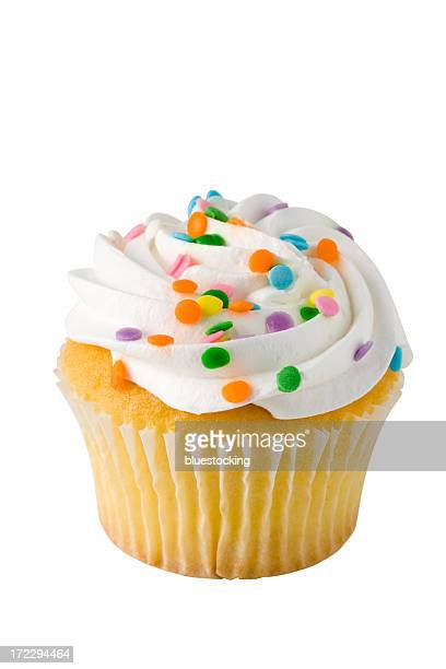 Cupcake on White with Clipping Path