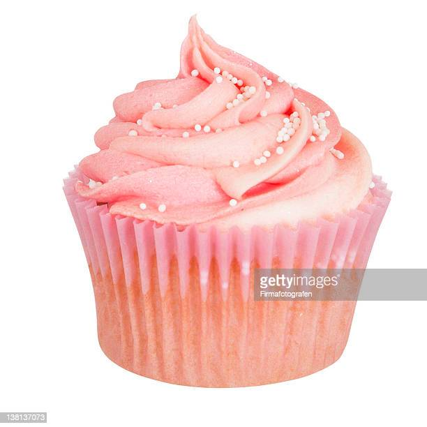 Cupcake With Frosting Isolated With Clipping Path