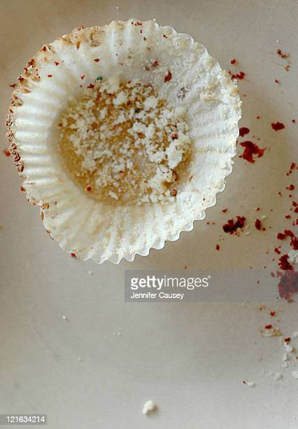 Cupcake wrapper and crumbs