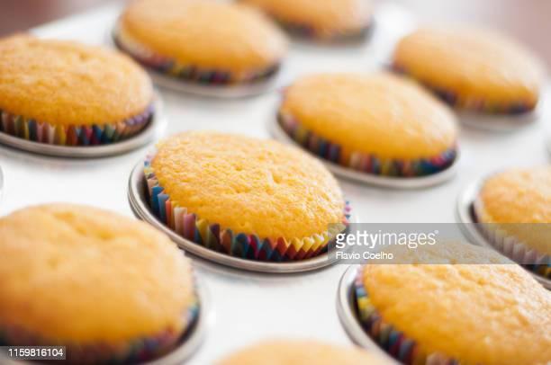 Cupcakes baked on muffin baking pan