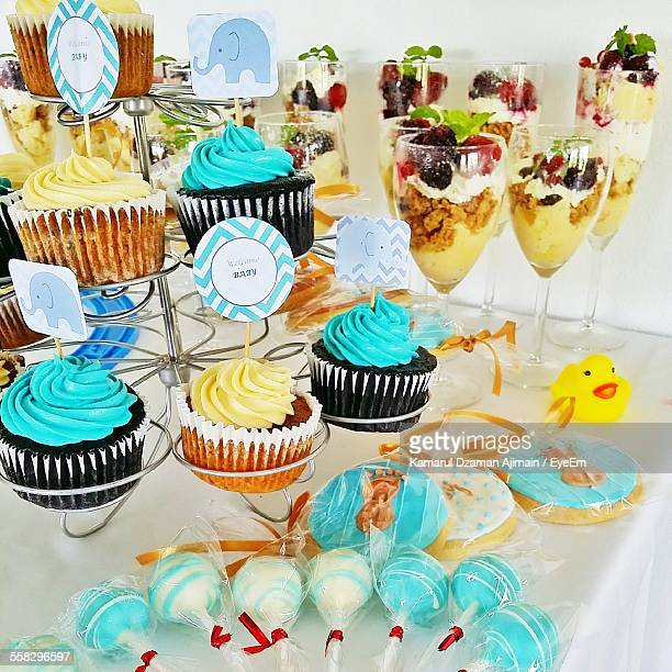 Cupcakes, Cookies, Lollypops And Desserts In Glasses, For Sale