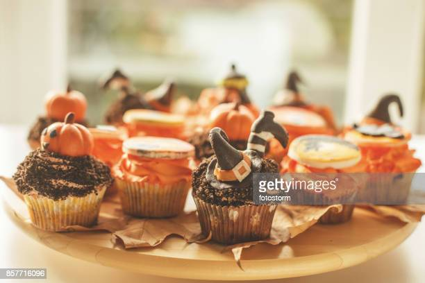 Cupcakes with Halloween decoration