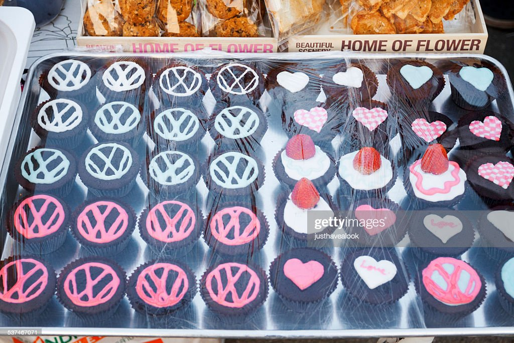 Cupcakes With Vw Logo High Res Stock Photo Getty Images