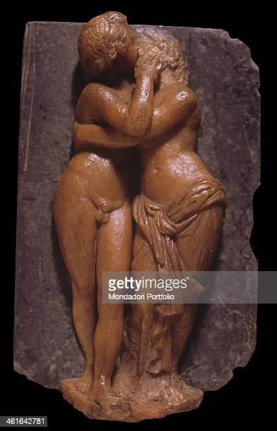 Cupid and Psyche by Benedetto Pistrucci 1800 1849 19th Century wax on slate Italy Lazio Rome Numismatic Museum of the Mint Whole artwort view Cupid...