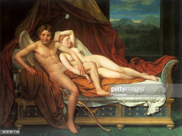 Cupid and Psyche David JacquesLouis 1817