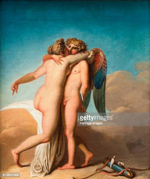 Cupid and Psyche embrace each other Found in the collection of Nivaagaards Malerisamling