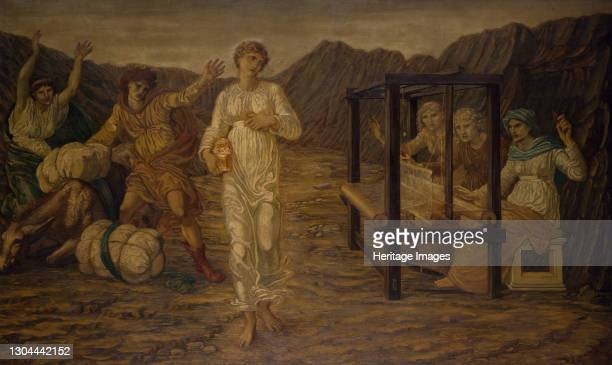 Cupid and Psyche - Palace Green Murals - Psyche set by Venus the Task, 1881 By Sir Edward Burne-Jones and Walter Crane A scene from William Morris'...