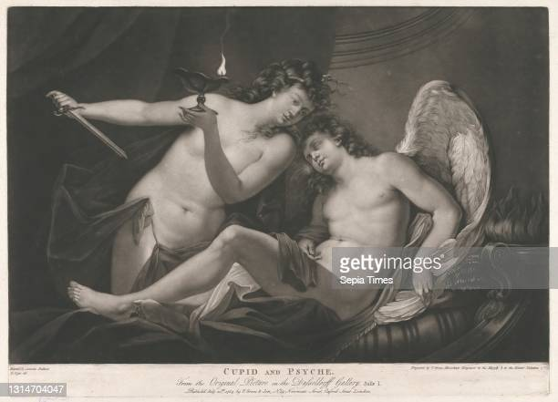 Cupid and Psyche, Print made by Valentine Green, 1739–1813, British, after Antonio Bellucci, 1654–1726?, Italian, and Laurence J. Cosse, active...