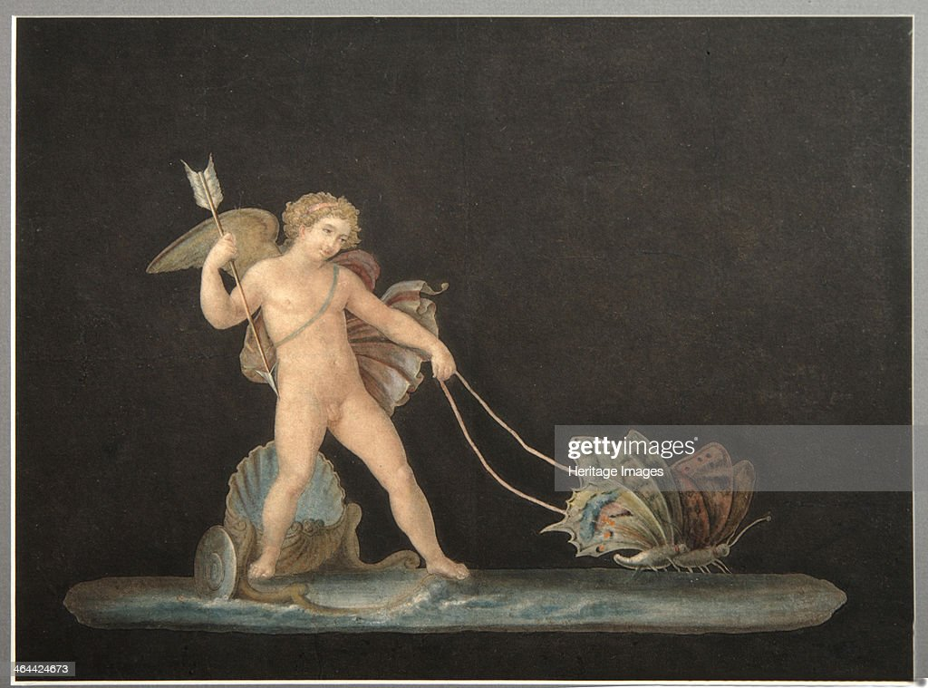 Cupid with Butterflies. Artist: Anonymous : News Photo