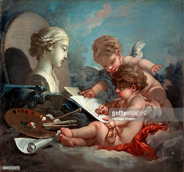 'Cupids' allegory of painting 1760s Boucher François Found in the collection of the State Hermitage St Petersburg