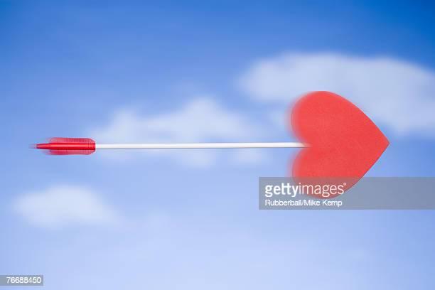 Cupid's arrow with blue sky