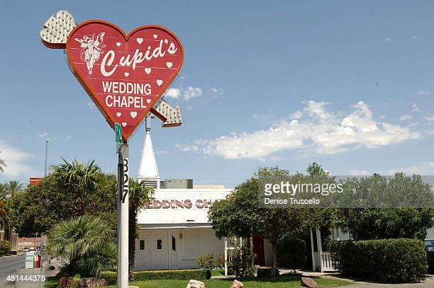 Cupid's Wedding Chapel during Las Vegas Wedding Chapels at Las Vegas Boulevard in Las Vegas Nevada