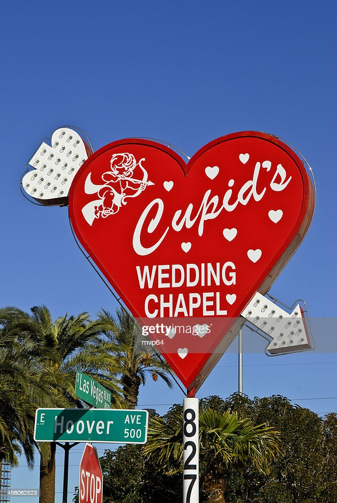 Cupids Wedding Chapel Sign High Res Stock Photo Getty Images