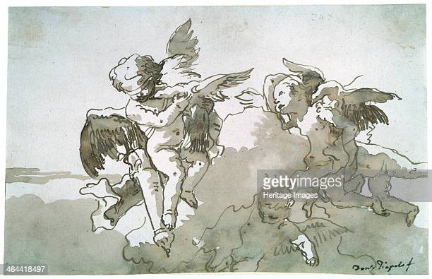 'Cupids with Doves and a Torch' 17th century Tiepolo Giandomenico Found in the collection of the State A Pushkin Museum of Fine Arts Moscow