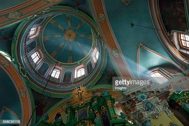 Cupola In The Orthodox Church Of The Holy Spirit Vilnius Lithuania